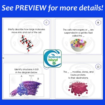 Cells Task Cards with PowerPoint Review