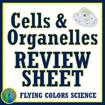 Cells Review Worksheet NGSS MS-LS1-1 and MS-LS1-2