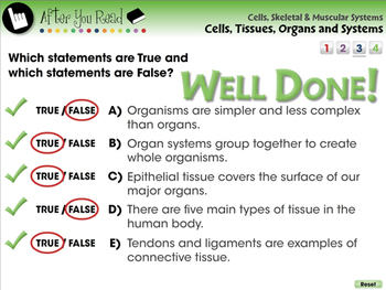 Cells, Tissues, Organs and Systems - NOTEBOOK Gr. 3-8