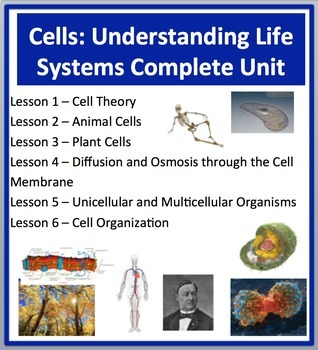 Cells: Understanding Life Systems - Unit-PowerPoint Lessons,Activities and Notes