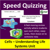Cells: Understanding Life Systems Unit - Speed Quizzing