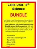 Cells Unit- BUNDLE - 5th Science