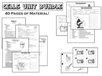 Cells: A Science Unit Bundle (Printables, Task Cards, Experiments)