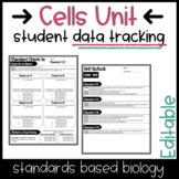 Cells Unit Student Data Tracking   Editable!