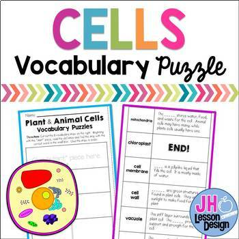 Cells Vocabulary Puzzle