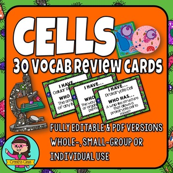 Cells Vocabulary Review Card Game