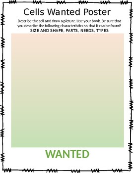 Cells Wanted Poster