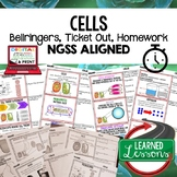 Cells Warm Ups & Bell Ringers, NGSS, Print & Digital Dista
