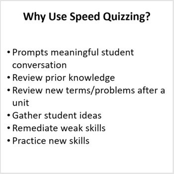 Cells and Body Systems Unit - Speed Quizzing
