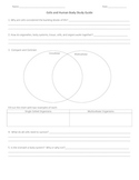 Cells and Human Body Unit Study Guide and Test
