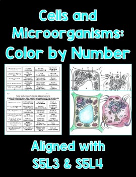 Cells and Microorganisms Color By Number