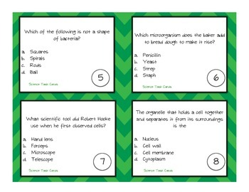 Cells and Microorganisms Task Cards CRCT Review
