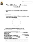 Cells and Microscopy Revision Worksheet