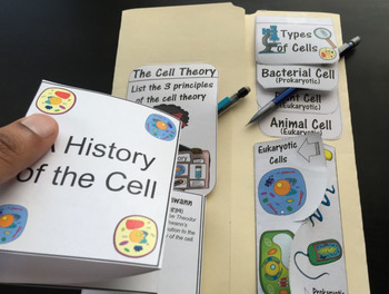 Cells and Viruses for the Biology Interactive Notebook and Lapbook