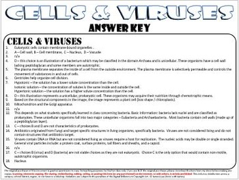 Cells and Viruses: Task Cards