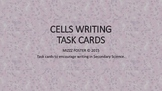 Cells and Viruses Writing Task Cards for Secondary Science