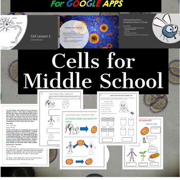 Cells for Middle School with Google Apps:  Growing Instructional Bundle