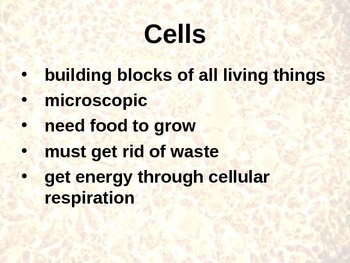 Cells to Systems PowerPoint (5th Grade SF Science CH. 2)