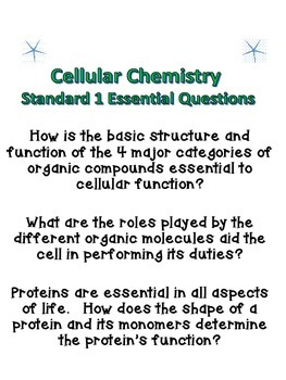 Cellular Chemistry Introduction