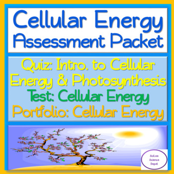 Cellular Energy Assessment Packet: Quiz and TWO Tests