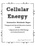 Cellular Energy Interactive Notebook