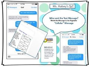 """""""Cellular"""" Messages- MS LS1-2 Organelles & Functions (Editable)"""