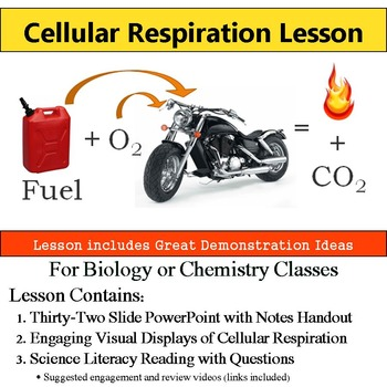 Cellular Respiration Lesson with Handout and Demonstrations