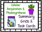 Cellular Respiration & Photosynthesis Review Organizer and Task Cards