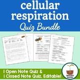 Cellular Respiration Quiz Bundle