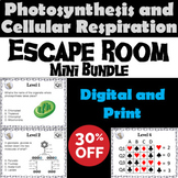Photosynthesis and Cellular Respiration Activity: Escape Room - Science