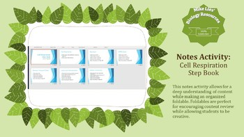 Cellular Respiration Step Book PowerPoint