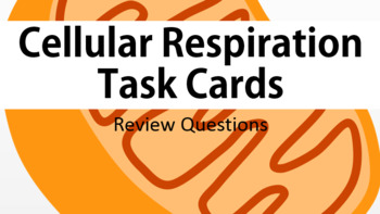 Cellular Respiration Task Cards