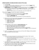 Cellular Respiration: Written steps and worksheet