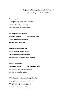 Cellular Respiration song
