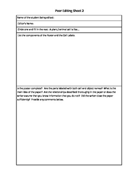 Cellular Similes Project and Lesson Plan