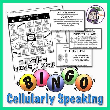 Cellular Speaking Bingo - MS Science Topic Cells