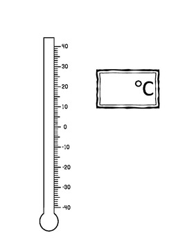 Celsius Thermometer -40 to 40 degrees