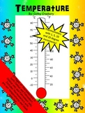 Celsius and Fahrenheit thermometers for teaching temperature