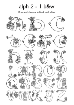 Celtic Letters Worksheets & Teaching Resources | TpT