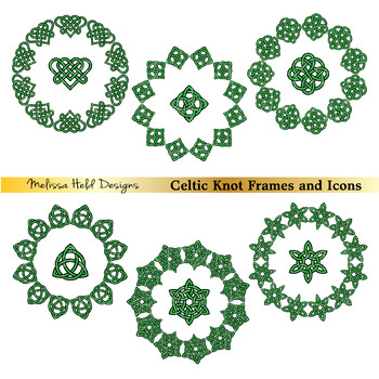 Celtic Circle Frames and Icons Clipart