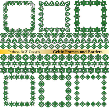 Celtic Frames and Borders Clipart