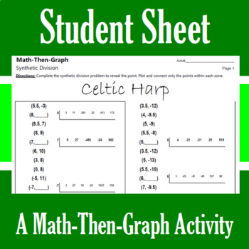 Celtic Harp - A Math-Then-Graph Activity - Synthetic Division