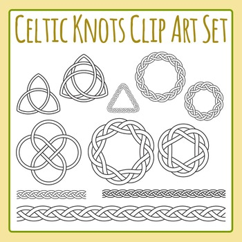 Celtic Knots - St Patrick's Day Color In / Decoration Clip Art Commercial Use