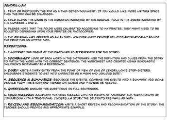 Cendrillon Comprehension Foldable