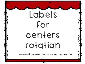 Center rotation labels