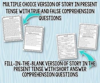 Present Tense Story Worksheet (Cenicienta/Cinderella)