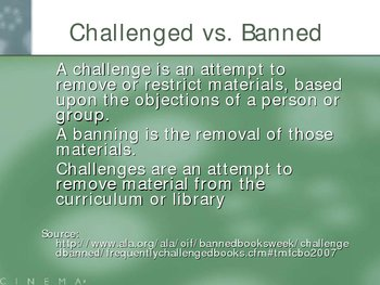 Censorship and Banned Books Introduction