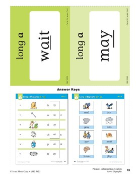 """Center 01: Long """"a"""" Digraphs ai/ay (Phonics Intervention Centers)"""