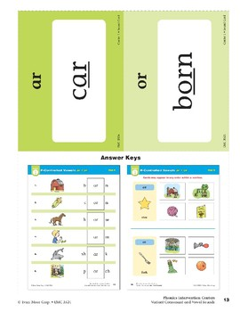 """Center 01: R-Controlled Vowels """"ar"""" and """"or"""" (Phonics Intervention Centers)"""