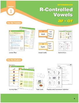 Center 01: R-Controlled Vowels: ar/or (Phonics Intervention Centers)